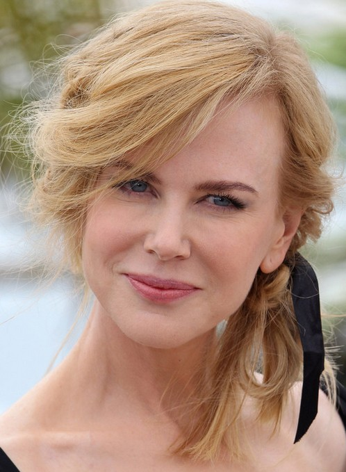 Nicole Kidman Long Hairstyle: Messy Updo