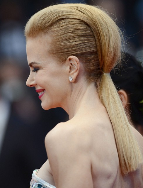 Nicole Kidman Long Hairstyle: Mohawk and Ponytail