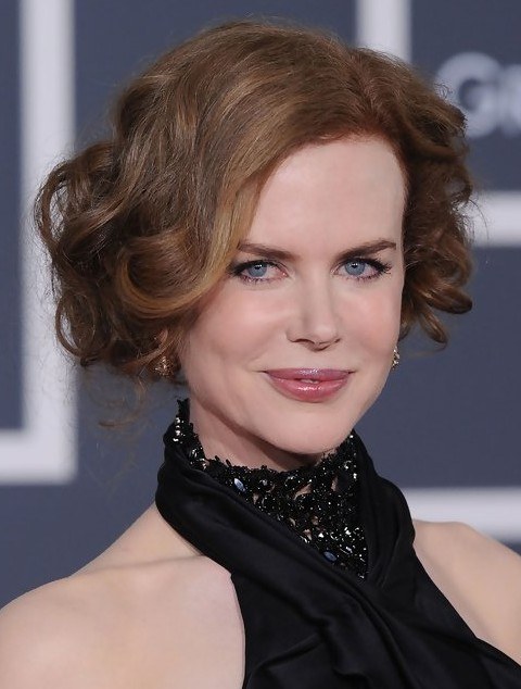 Nicole Kidman Long Hairstyle: Romantic Pinned up Locks