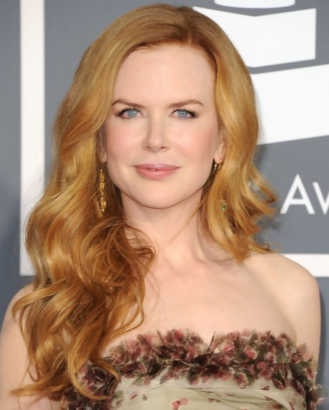Nicole Kidman Long Hairstyle: Side-parted Hair