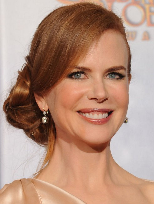 Nicole Kidman Long Hairstyle: Sleek Chignon