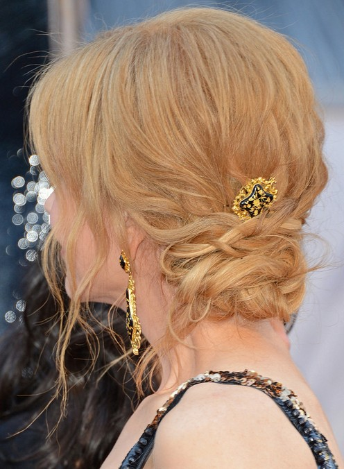 Nicole Kidman Long Hairstyle: Updo with Side Bangs