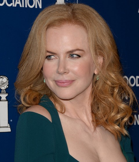 Nicole Kidman Medium Length Hair style: 2014 Soft Waves