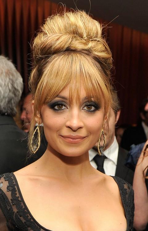 Nicole Richie Hairstyles: Bouffant Updo