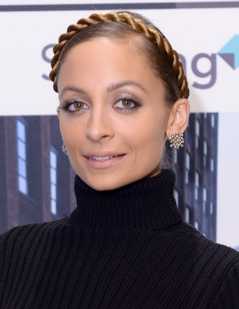 Nicole Richie Hairstyles: Braided Updo