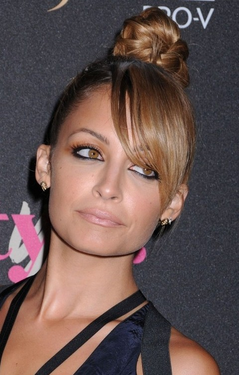 Nicole Richie Hairstyles: Cute Braided Updo