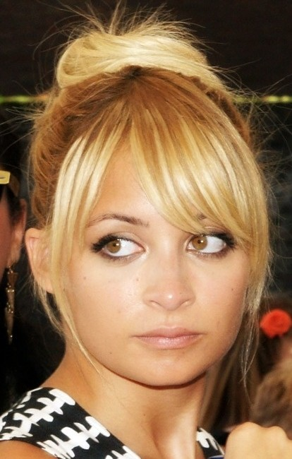 Nicole Richie Hairstyles: Cute Updo