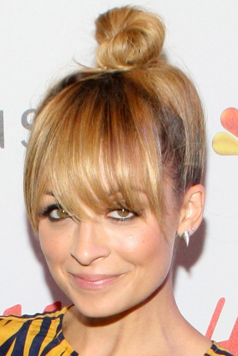 Nicole Richie Hairstyles: Hair Knot With Bangs