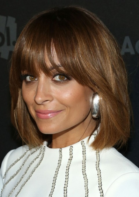 Nicole Richie Hairstyles: Medium Straight Haircut