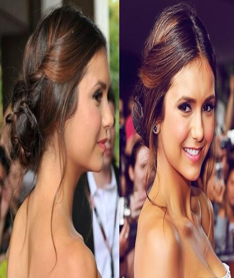 Nina Dobrev Hairstyles Adorable Updo Pretty Designs