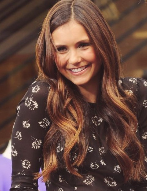 Nina Dobrev Hairstyles Stylish Curls Pretty Designs