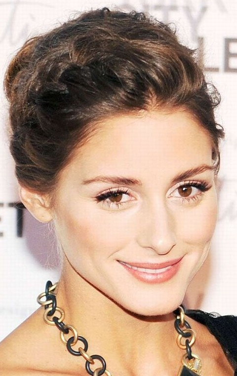 Olivia Palermo Hairstyles: Braided Updo