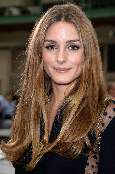 Olivia Palermo Hairstyles: Long Center-parted Hairstyle