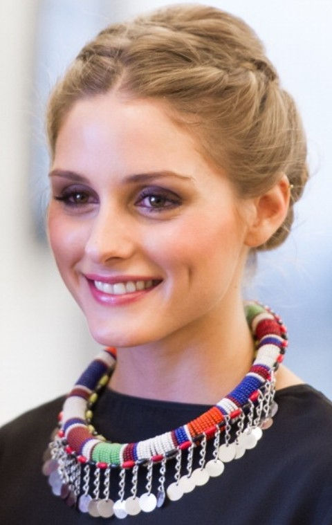 Olivia Palermo Hairstyles: Sweet Braided Updo