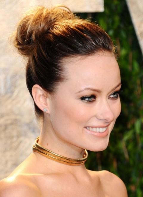 Olivia Wilde Hairstyles: Elegant Updo