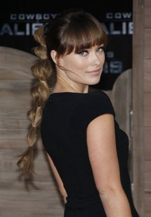 Olivia Wilde Hairstyles: Fantastic Ponytail