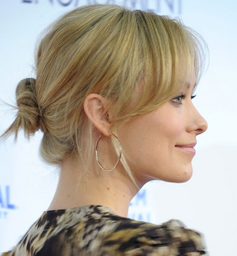 Olivia Wilde Hairstyles: Lovely Classic Bun