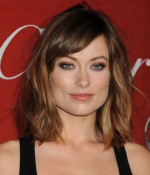 Olivia Wilde Hairstyles: Messily-tousled Medium Hairstyle