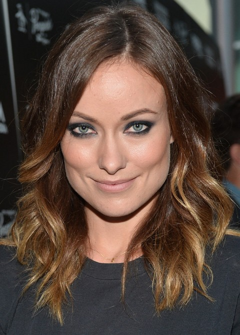 Olivia Wilde Hairstyles: Modern Medium Wavy Haircut