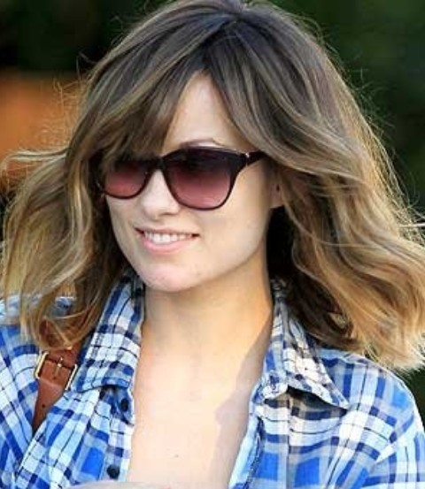 Olivia Wilde Hairstyles: Pretty Medium Wavy Haircut
