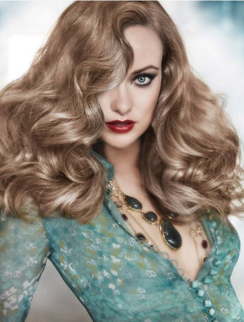 Olivia Wilde Hairstyles: Retro-chic Shaggy Wavy Hairstyle