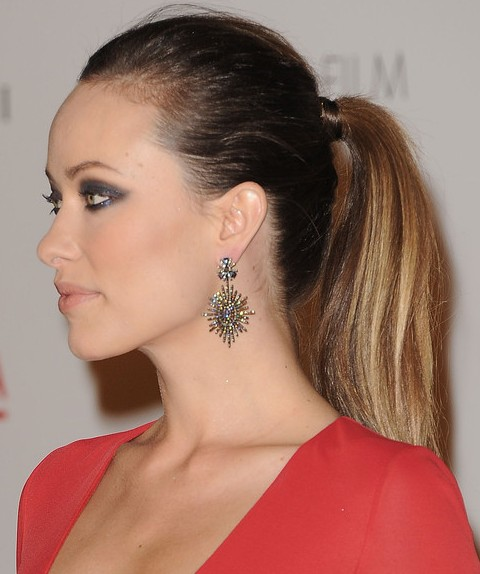 Olivia Wilde Hairstyles: Stylish Ponytail