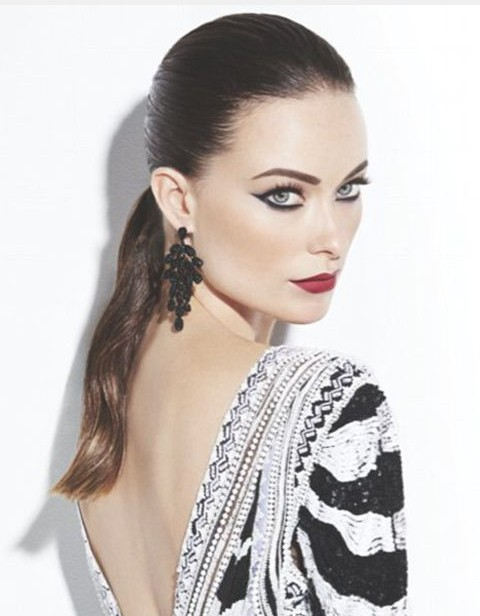 Olivia Wilde Hairstyles: Super-chic Ponytail