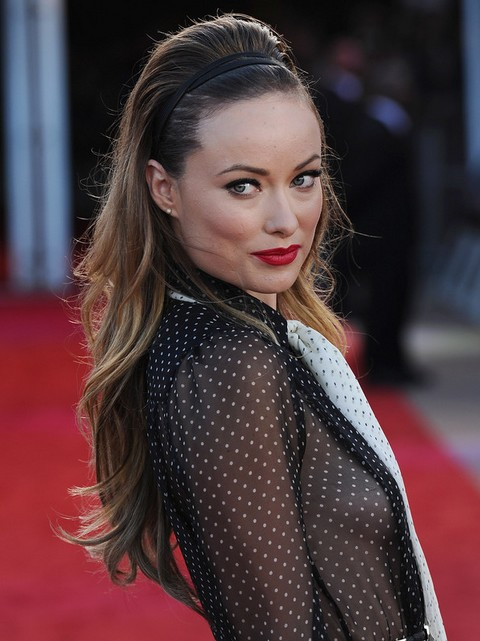 Olivia Wilde Hairstyles: Super-chic Teased Hairstyle