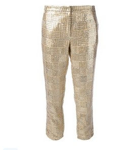 PAUL & JOE SISTER sequinned trouser, cream