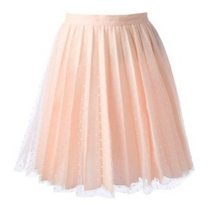 Pink VALENTINO pleated lace skirt