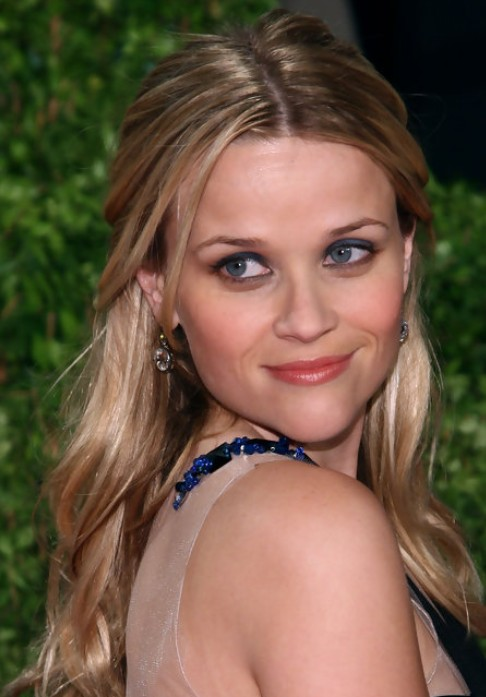 Reese Witherspoon Long Hairstyle: Half Up Half Down for Blonde Locks