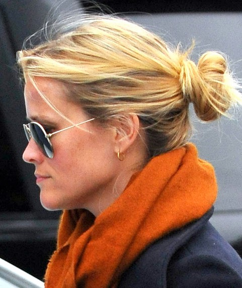 Reese Witherspoon Long Hairstyle: Loose Bun