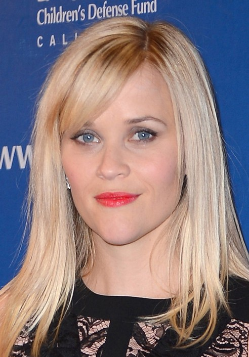 Reese Witherspoon Long Hairstyle: Side Part