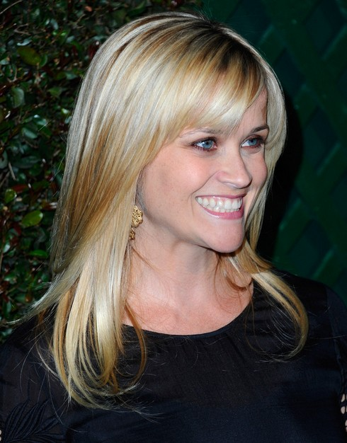 Reese Witherspoon Long Hairstyle: Sleek Straight Hair
