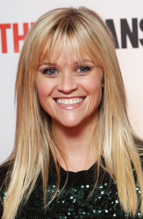 Reese Witherspoon Long Hairstyle: Wispy Bangs