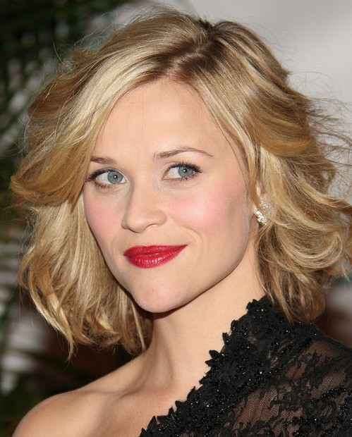 Reese Witherspoon Medium Length Hairstyle: Fluffy Curls