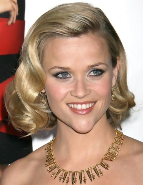 Reese Witherspoon Medium Length Hairstyle: Retro Bob