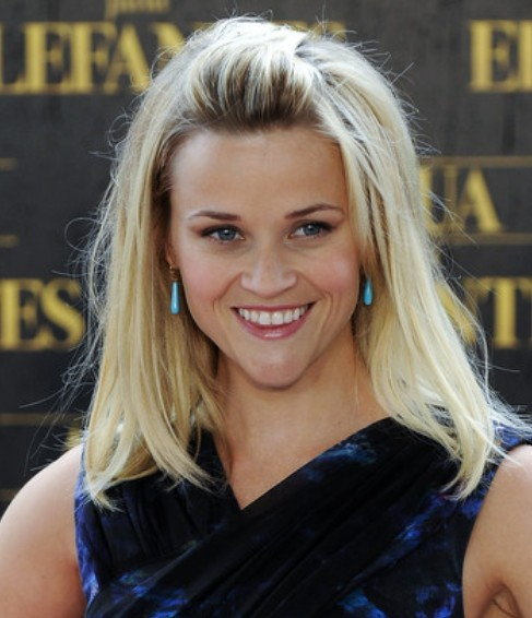Reese Witherspoon Medium Length Hairstyle: Straight Haircut ...
