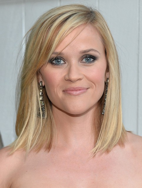 Reese Witherspoon Medium Length Hairstyles: 2014 Straight Bob