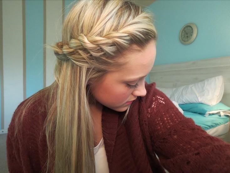 Rope Braid Fringe Hairstyle