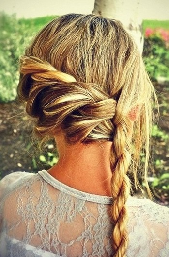 Rope Braid Hairstyle for Wedding Hair