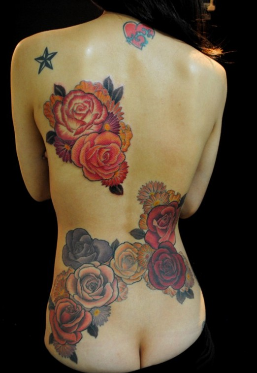 Rose tattoo: Japanese tattoos