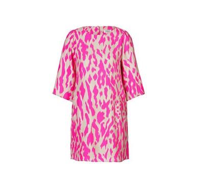 STEFFEN SCHRAUT Silk Hysteric Animal Print Tunic Dress, Violet Purple