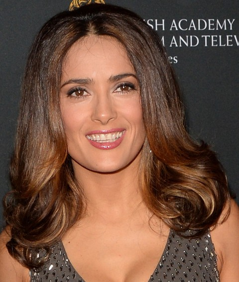 Salma Hayek Hairstyles: 2014 Bouffant Haircut