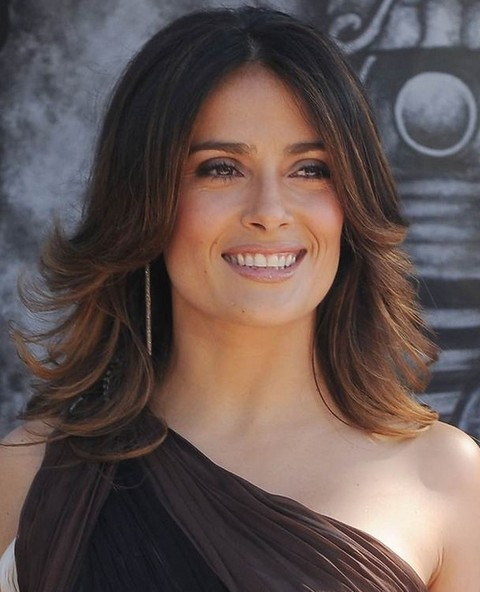 Salma Hayek Hairstyles: Fabulous Straight Haircut