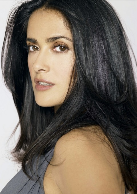 Salma Hayek Hairstyles: Fluffy Straigh Haircut