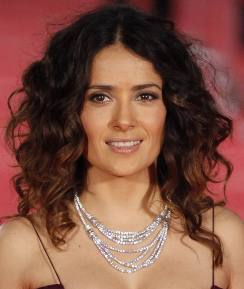 Salma Hayek Hairstyles: Long Braided Hairstyle