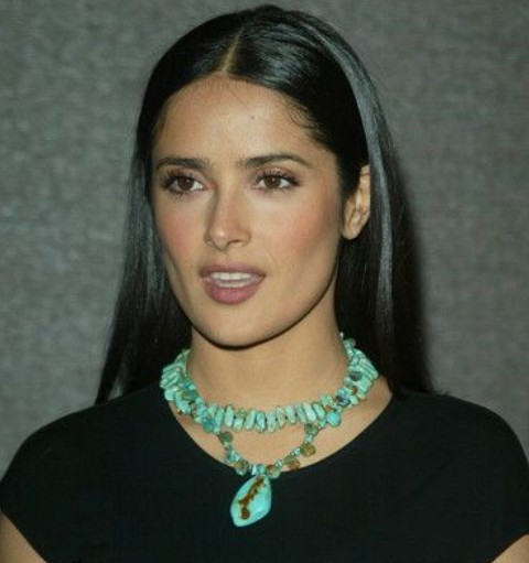 Salma Hayek Hairstyles: Ultra-straight Haircut