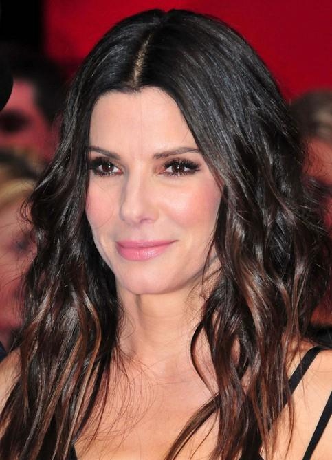 Sandra Bullock Long Hairstyle: Highlighted Hair
