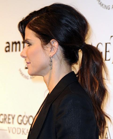 Sandra Bullock Long Hairstyle: Ponytail